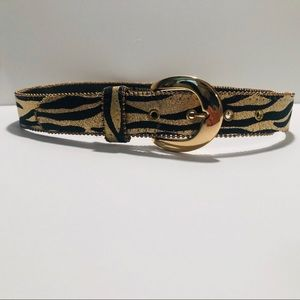 Gold Tiger Print Belt *Vintage*